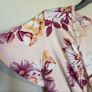 Caution To The Wind Tops - Caution to the Wind Soft Pink Floral Blouse